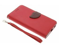 Rood blad design TPU booktype Sony Xperia XA1 Ultra