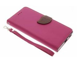 Fuchsia blad design TPU booktype Sony Xperia XA1 Ultra