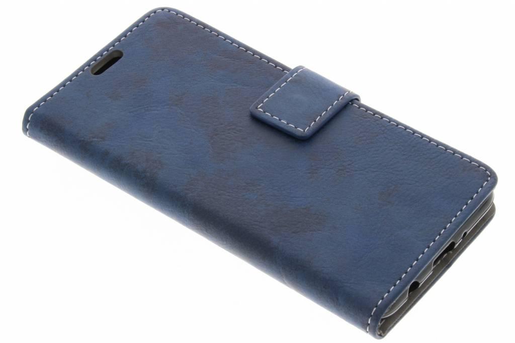 Blauwe vintage look booktype voor de LG K4 (2017)
