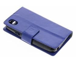 Blauw Glanzende TPU Bookcase Wiko Sunny Max