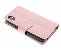 Roze Glanzende TPU Bookcase Wiko Sunny Max