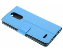 Blauw zakelijke TPU booktype hoes LG K4 (2017)