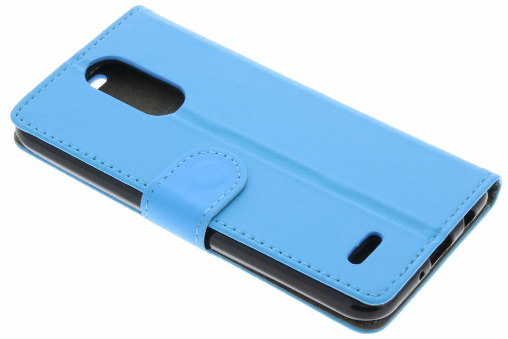 Blauwe zakelijke TPU booktype hoes voor de LG K4 (2017)