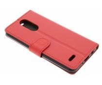 Rood zakelijke TPU booktype hoes LG K4 (2017)