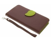 Bruin blad design TPU booktype Acer Liquid Z6 Plus