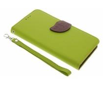 Groen blad design TPU booktype Acer Liquid Z6 Plus