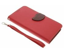 Rood blad design TPU booktype Acer Liquid Z6 Plus