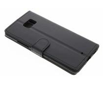 Zwart zakelijke TPU booktype hoes HTC U Ultra