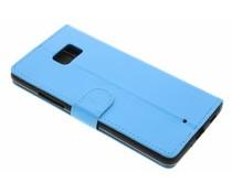 Blauw zakelijke TPU booktype hoes HTC U Ultra
