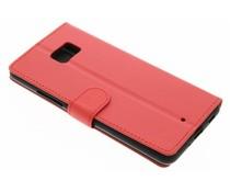 Rood zakelijke TPU booktype hoes HTC U Ultra