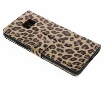 Glanzend luipaard booktype hoes HTC U Ultra