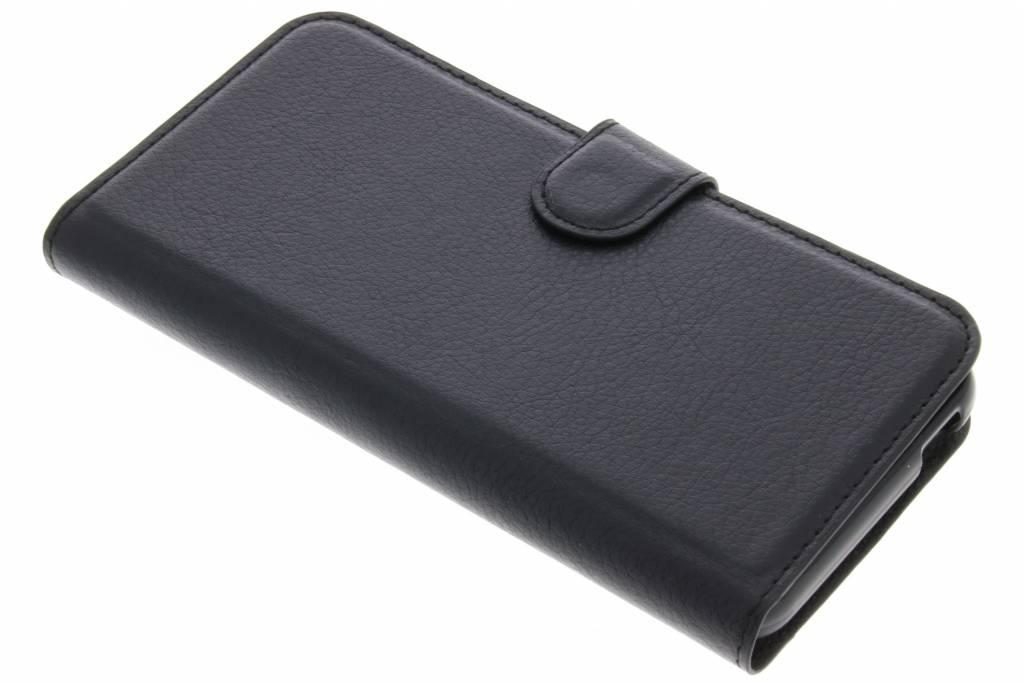Litchi Étui Noir De Type Livre Pour Alcatel 3 rHzQe6Ko