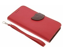 Rood blad design TPU booktype Acer Liquid Z6
