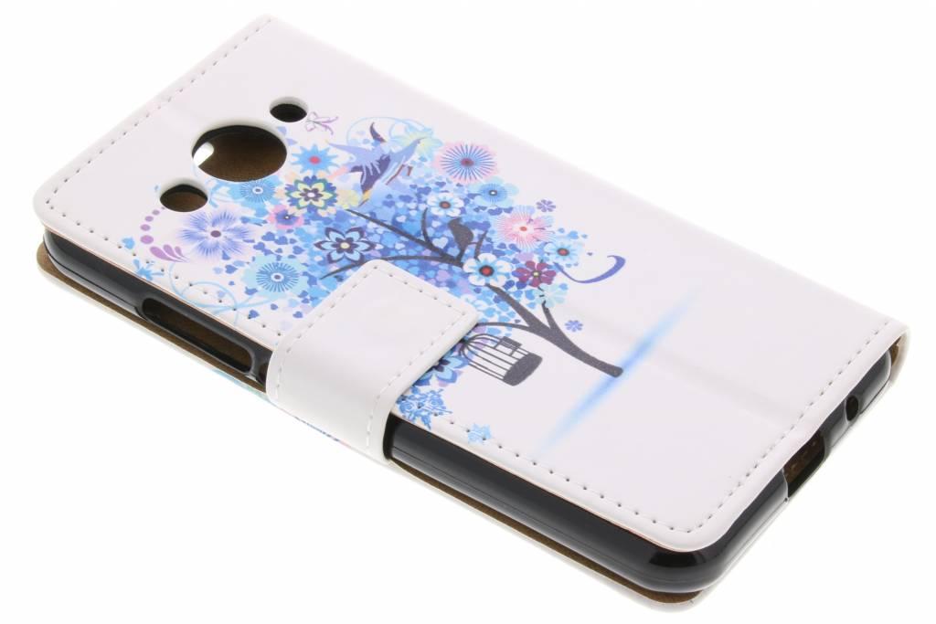 Bloemen design TPU booktype hoes voor de Huawei Y3 (2017)