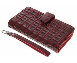 Rood Krokodil Wallet Case Sony Xperia X