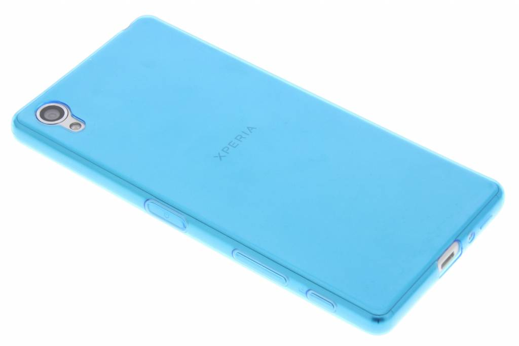 Blauw ultra thin transparant TPU hoesje voor de Sony Xperia X