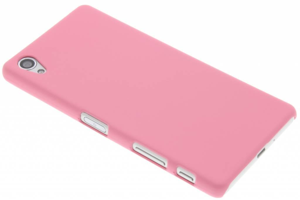 Roze effen hardcase hoesje voor de Sony Xperia X