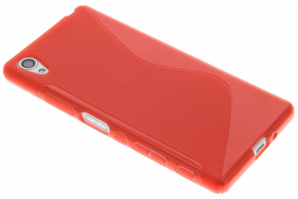 Rood S-line TPU hoesje voor de Sony Xperia X