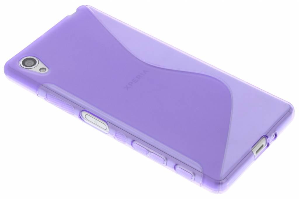 Paars S-line TPU hoesje voor de Sony Xperia X