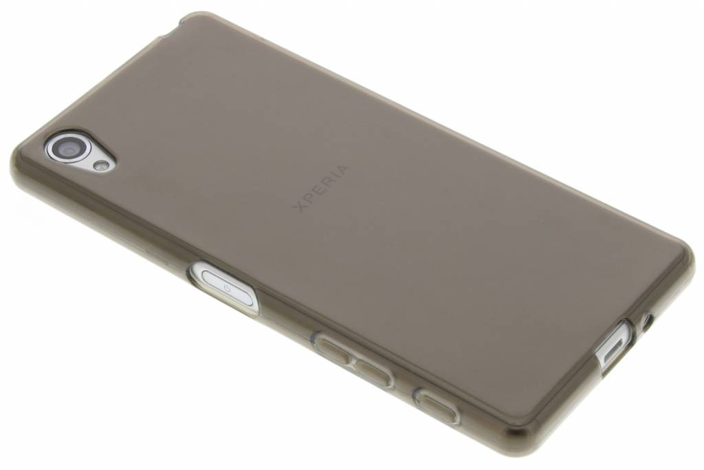 Grijze transparante gel case voor de Sony Xperia X
