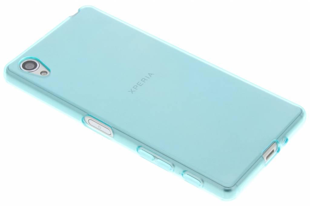 Turquoise transparante gel case voor de Sony Xperia X