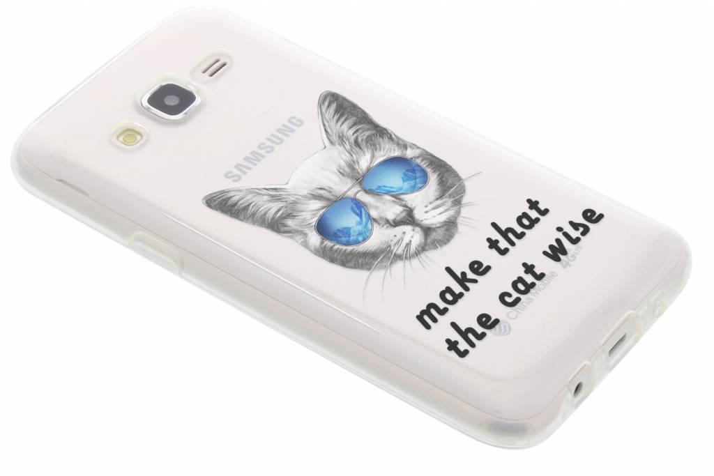 Cat design TPU hoesje voor de Samsung Galaxy J5