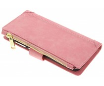 Roze luxe portemonnee hoes Huawei P10 Lite