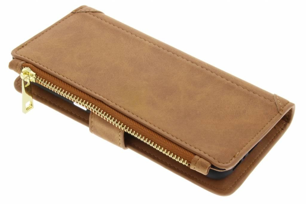 Bruine luxe portemonnee hoes voor de Samsung Galaxy S8 Plus