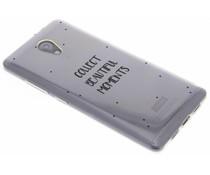 Quote design TPU hoesje Lenovo P2