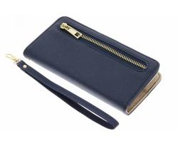 Blauw luxe booktype met rits Samsung Galaxy S5 Mini