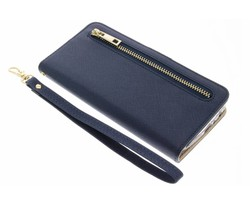 Blauw luxe booktype met rits Huawei P8 Lite