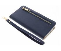Blauw luxe booktype met rits Huawei P10