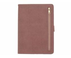 Roze luxe bookcover met rits iPad (2017)