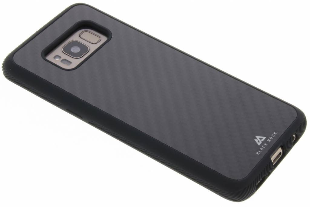 Black Rock Zwarte Real Carbon Case voor de Samsung Galaxy S8