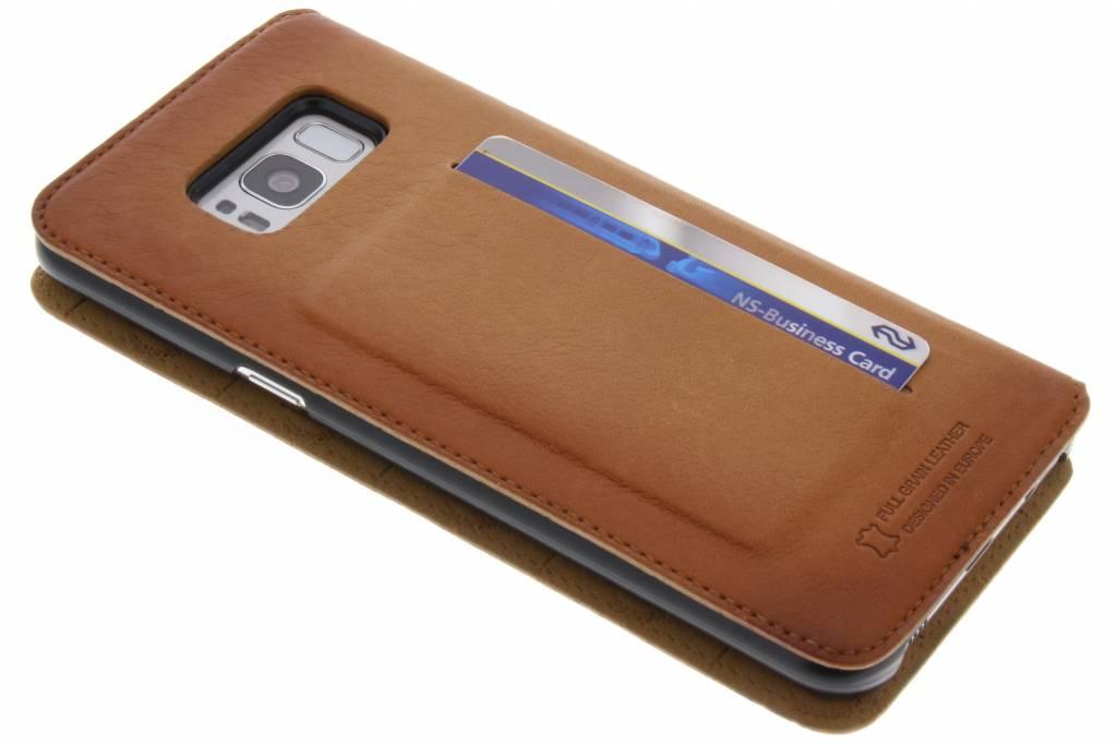 Bugatti Cognac Parigi Booklet Case voor de Samsung Galaxy S8 Plus