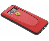 Ferrari Rood Pit Stop Carbon Hardcover Samsung Galaxy S8
