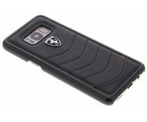 Ferrari Zwart Scuderia Leather Hard Case Samsung Galaxy S8