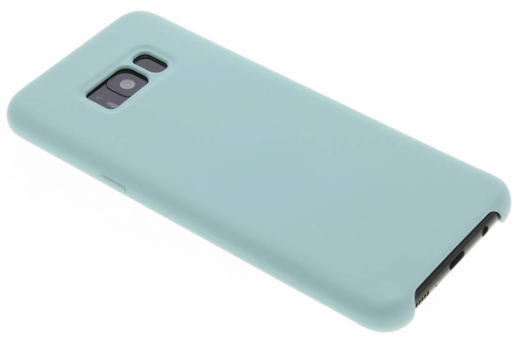 Blauwe siliconen hoes voor de Samsung Galaxy S8 Plus