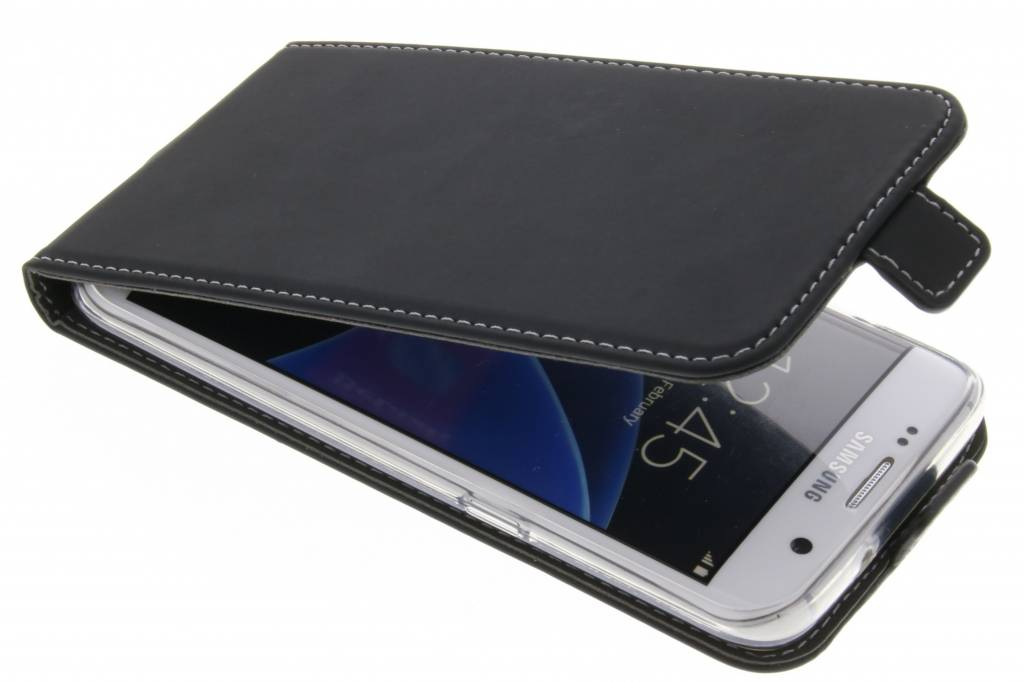Accezz Zwarte TPU Flipcase voor de Samsung Galaxy S7 Edge