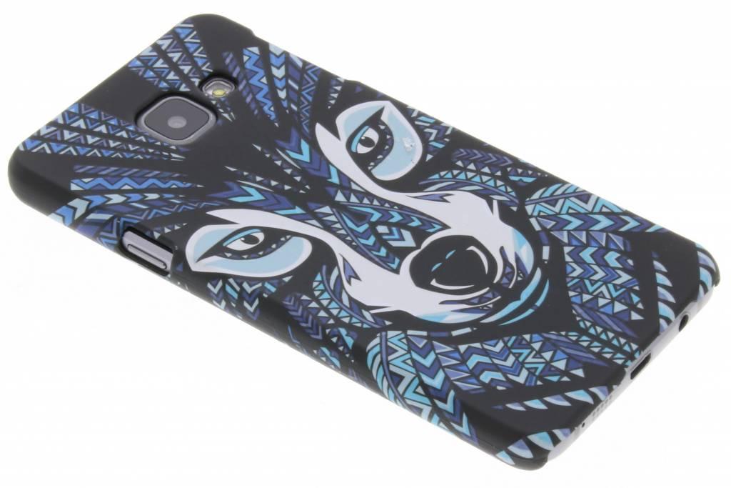 Wolf aztec animal design hardcase hoesje voor de Samsung Galaxy A3 (2016)