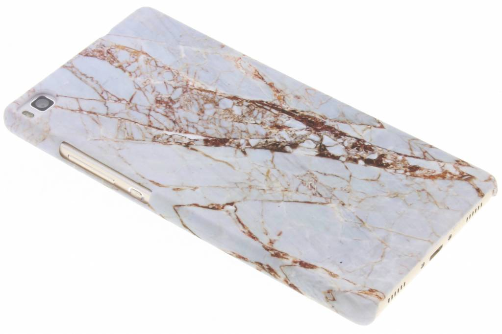 Wit marmer design hardcase hoesje voor de Huawei P8