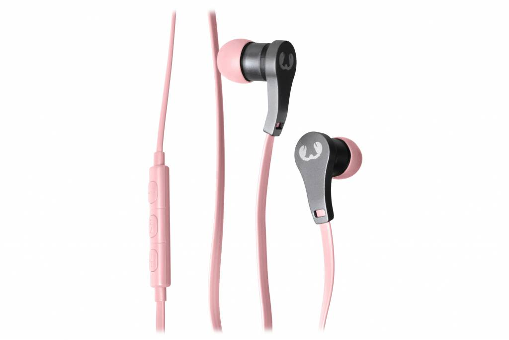 Fresh 'n Rebel Lace Earbuds in ear koptelefoon roze