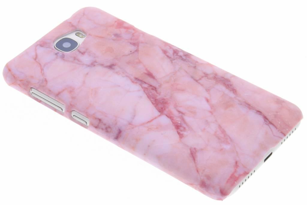 Roze marmer design hardcase hoesje voor de Huawei Y5 2 / Y6 2 Compact