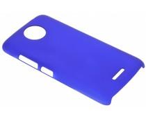 Blauw effen hardcase hoesje Motorola Moto C Plus