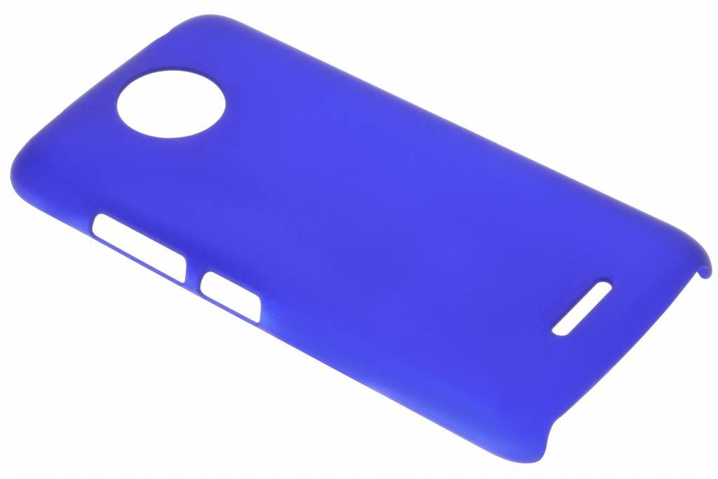 Blauw effen hardcase hoesje voor de Motorola Moto C Plus