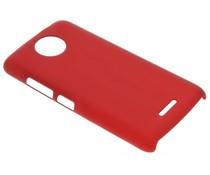 Rood effen hardcase hoesje Motorola Moto C Plus