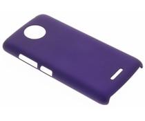 Paars effen hardcase hoesje Motorola Moto C Plus