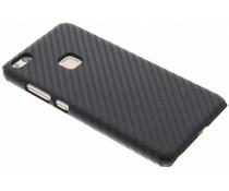 Zwart carbon look hardcase hoesje Huawei P10 Lite