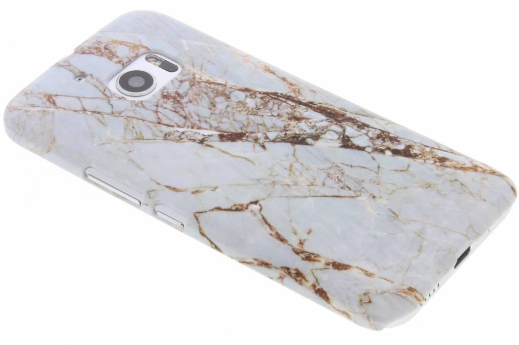 Wit marmer design hardcase hoesje voor de HTC 10