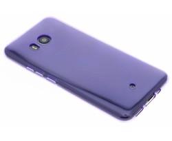 Paars transparant gel case HTC U11